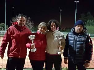premiazione del singolare femminile con Alberto Zoccheddu e Sandro Massei